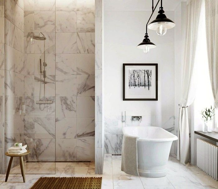 le carrelage en marbre en 42 photos bathroom. Black Bedroom Furniture Sets. Home Design Ideas