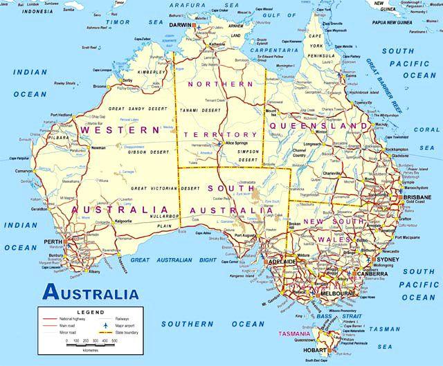 Map of australia, Australia ...