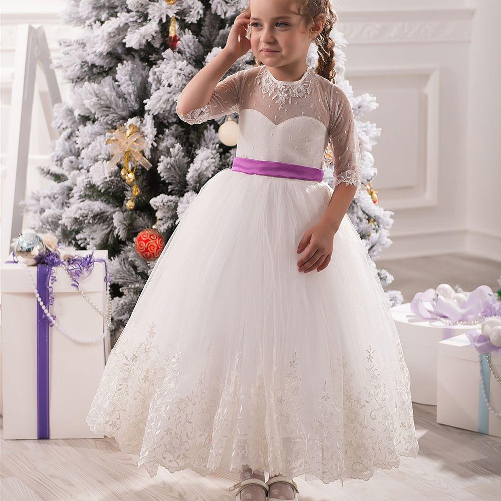 Repurpose wedding dress  Click to Buy ucuc Elegant Mesh Infant Little Girl Dresses for Weddings