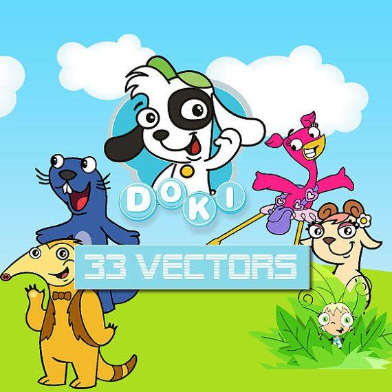Doki Nickelodeon 115 clipart CDR vectors images, vector graphics ...