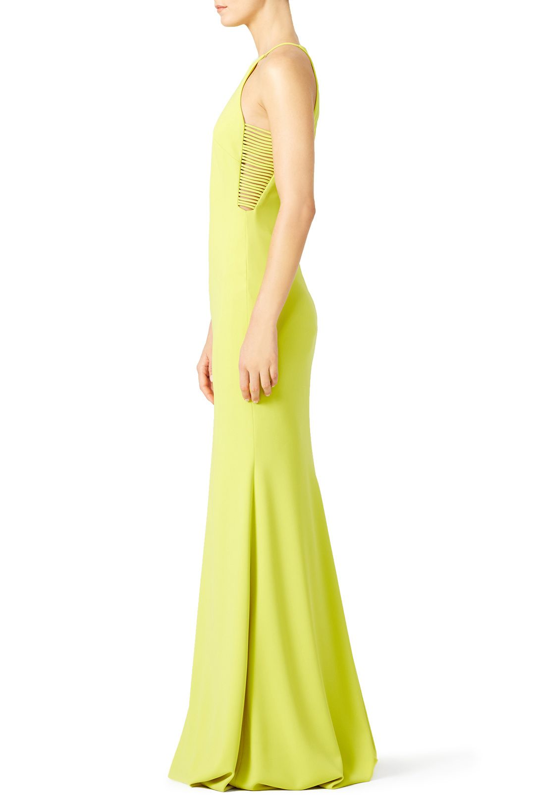 Rent Key Lime Gash Gown by Badgley Mischka for $85 - $115 only at ...