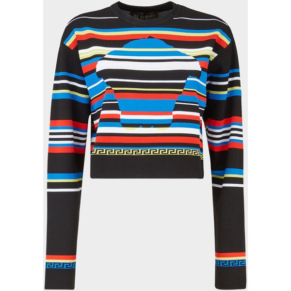 ce34021589ca City Stripes Outline Medusa Sweater ❤ liked on Polyvore featuring ...