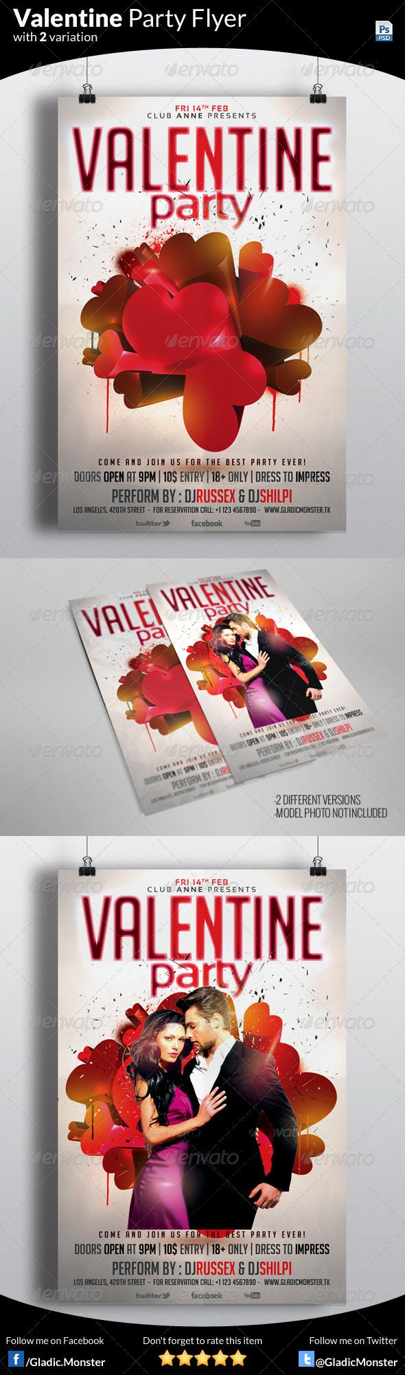 DOWNLOAD THIS Valentine Party Flyer FROM - http://graphicriver.net/item/valentine-party-flyer/6567889?ref=GladicMonster