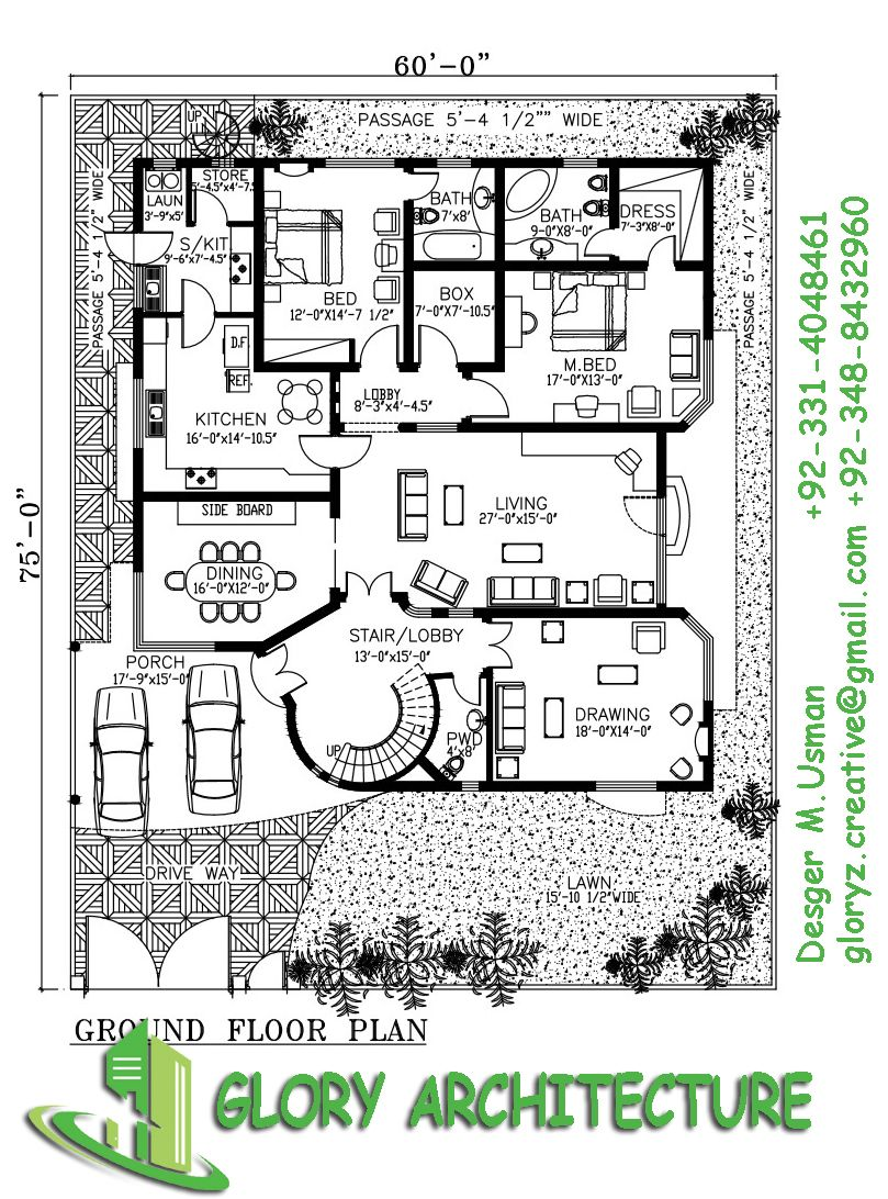 3d House Plans, Modern House Plans, Modern Houses, Apartment Floor Plans,  House Elevation, Reception Counter, Closer, Map, Modern Homes