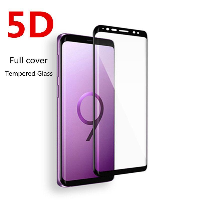 5d Gebogene Cover Gehartetem Glas Fur Samsung Galaxy S8 S9 Plus Displayschutzfolie Fur Samsung Galaxy S7 Kante Anmerkung 8 Glas Phone Phone Accessories Smartphone