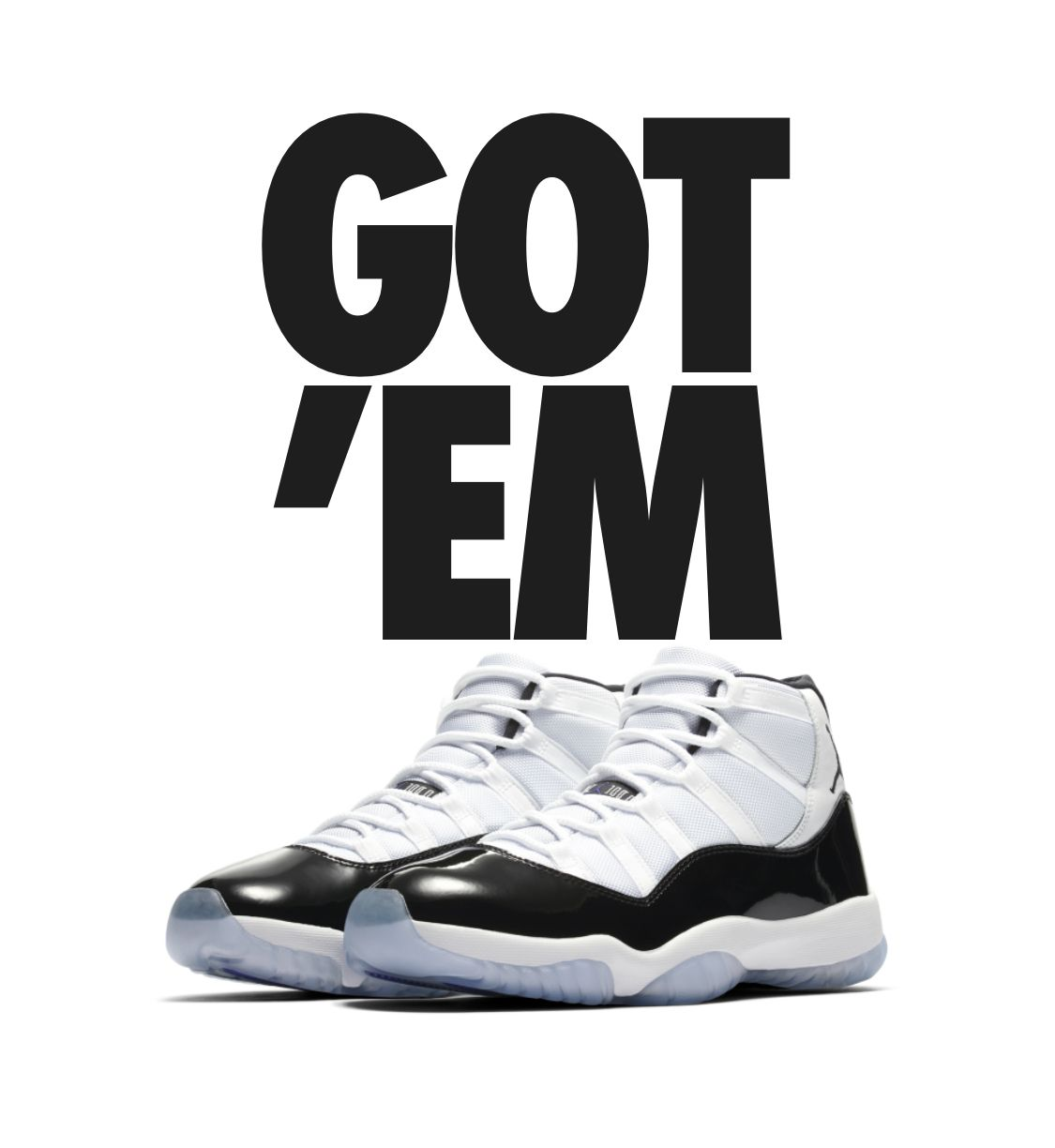 The Air Jordan 11 Retro is yours. Share your latest pick