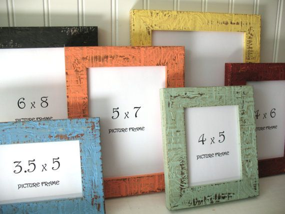Mini Frames 12 Colors Beachy Picture Photo Frame Rustic Distressed 3x4 3 5x5 4x5 4x6 5x7 6x8 7x9 Glass Backing Hardware Custom Shabby Decor 4 x 5 picture frames
