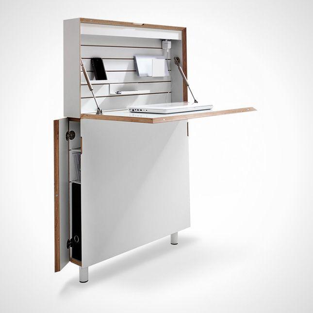 Creative Desks slim line fold out desk | houseboat furniture | pinterest | desks