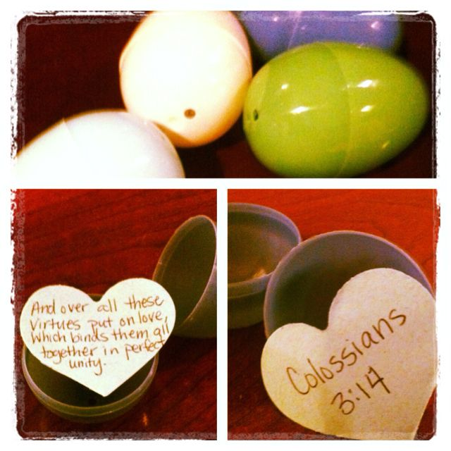 Fill easter eggs with scriptures about love for your husband a fill easter eggs with scriptures about love for your husband a cute way to tell negle Image collections