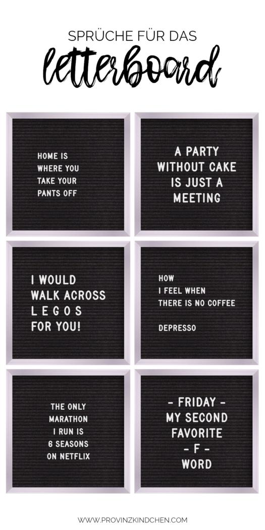 Mehr als 100 Sprüche für das Letterboard - provinzkindchen