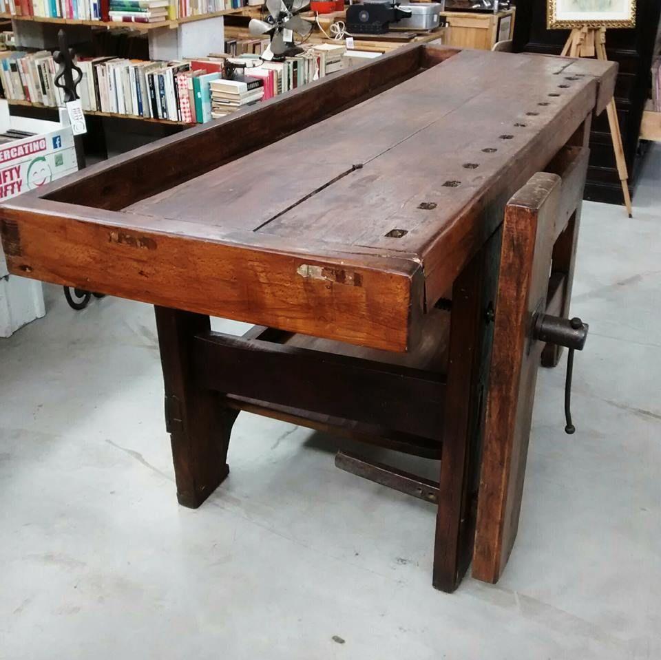 Banco Da Falegname Antico vecchio tavolo da falegname #collstuff #oldfurniture