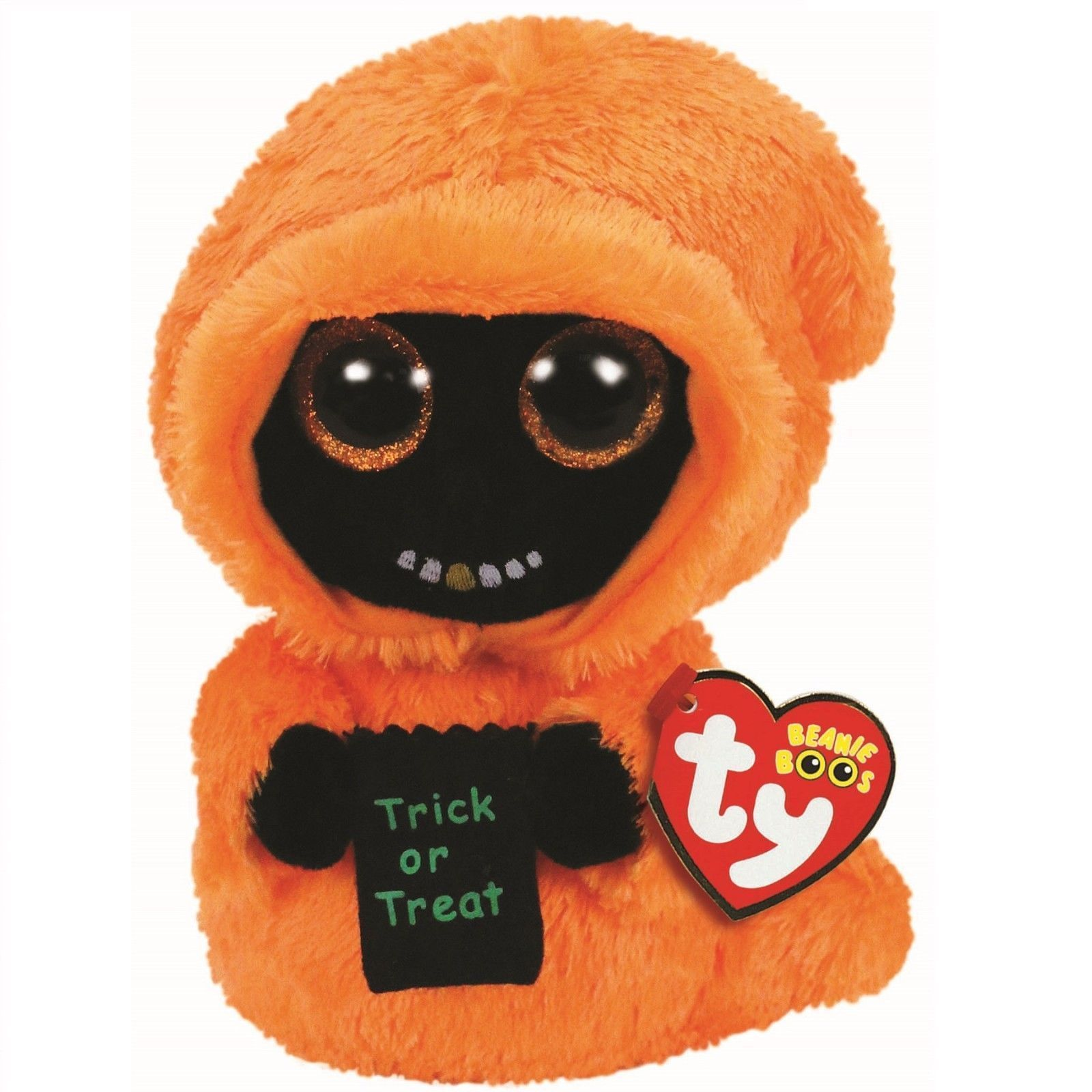 Beanie Babies 2 0 165958  2018 Halloween Ty Beanie Boos 9 Medium Grinner  The Ghoul Plush W Ty Heart Tags -  BUY IT NOW ONLY   11.95 on eBay! 5ddfa159b41