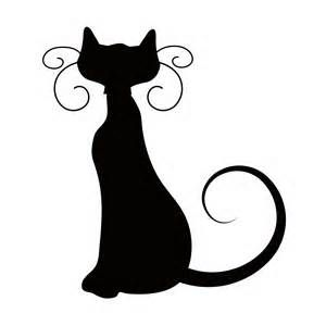 halloween cat silhouette bing images royal icing templates - Black Cat Silhouette Halloween