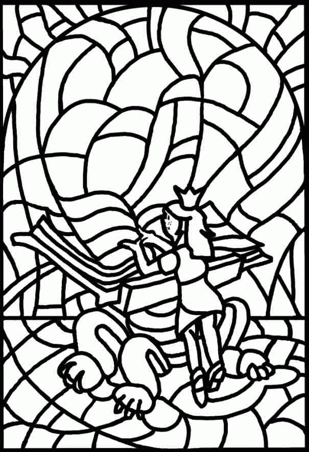 Stained Glass Coloring Page book fairy | TAM: Papercraft | Pinterest ...