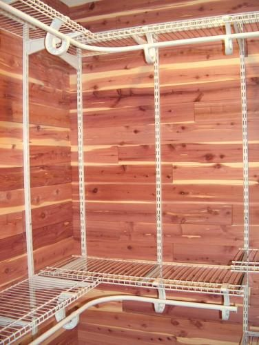 For The Closets Cedarsafe Aromatic Eastern Red Cedar Closet Liner Tongue And Groove Planks Home Depot