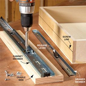 how to build under cabinet drawers increase kitchen storage rh pinterest com Construction Wood Drawer diy cabinets with drawers
