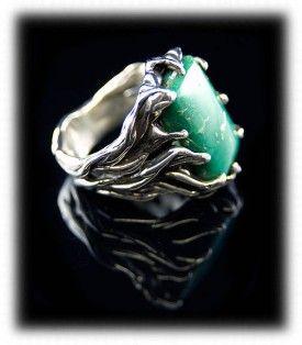 mens turquoise ring:) durangosilver.com