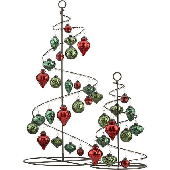 Bronze Swirl Ornament Trees in Christmas Decorating | Crate and ...