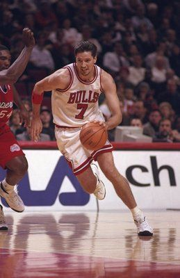 5 Dec 1996:  Forward Toni Kukoc of the Chicago Bulls drives down the court as forward Rodney Rodgers of the Los Angeles Clippers guards him during a game at the United Center in Chicago, Illinois.  The Bulls won the game 114-96. Mandatory Credit: Jonathan