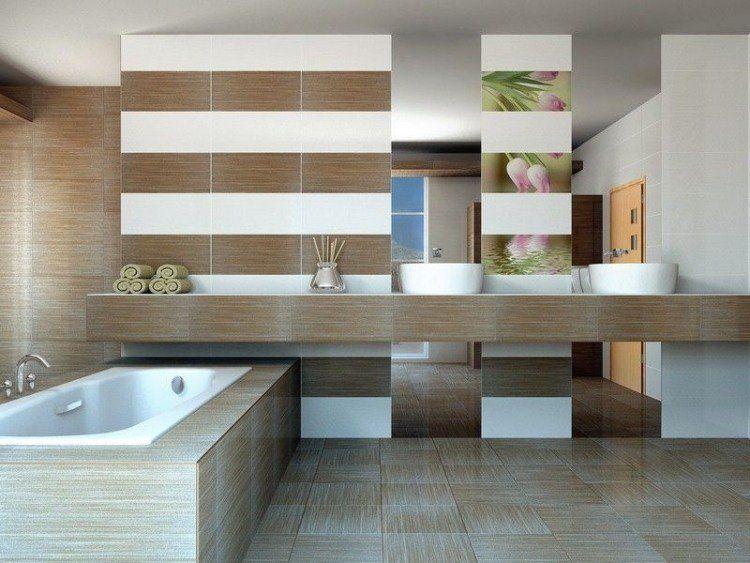 Carrelage sol salle de bain imitation bois en 15 idées top ! | Sol ...