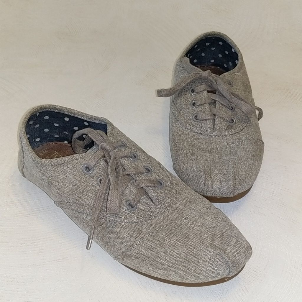 Toms Shoes Toms Gray Cordones Shoes Lace Ups Sz 8 Color Gray