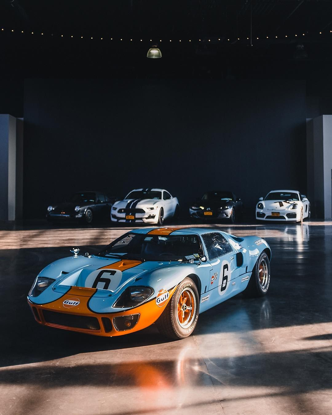 Gulf Livery Ford Gt40 At The Classic Car Club Manhattan Car