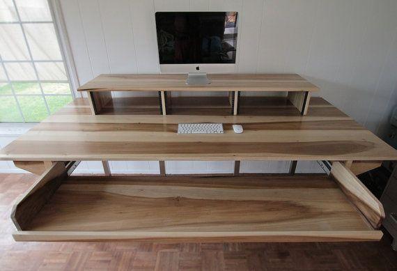 Custom minimalist industrial desk or recording en 2019 - Meuble de studio d enregistrement ...