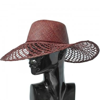 Cappello Pamela in paglia traforata  c3002f09eb66