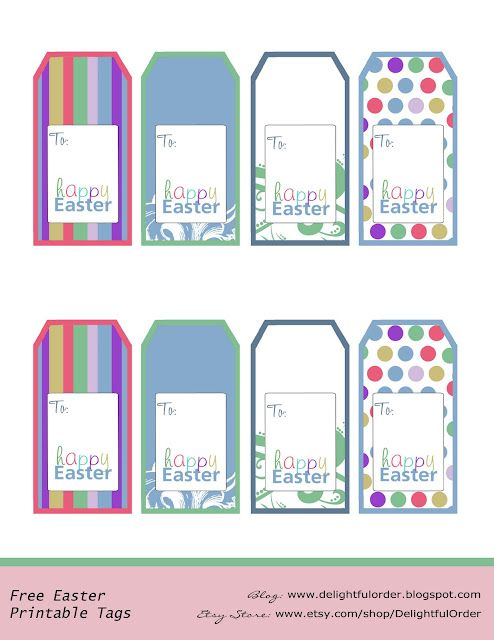 Free printable easter basket gift tags things i must do free printable easter basket gift tags negle Images