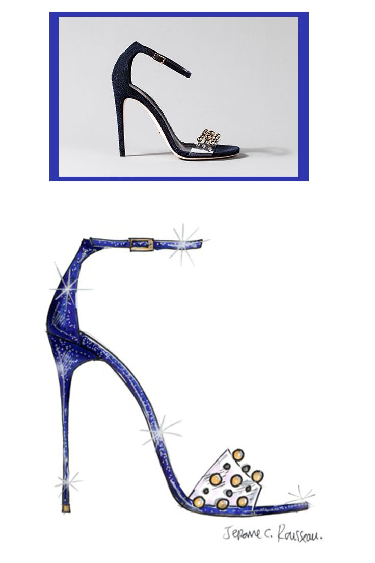 See how nine of Saks Fifth Avenue's favorite designers put their own spin on the iconic glass slipper from Disney's Cinderella, opening in theatres March 13. Design By: Jerome Rosseau #IfTheShoeFits