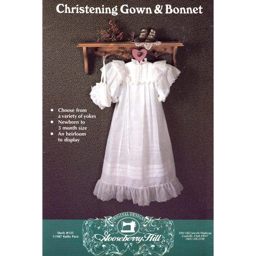 Christening Dress Pattern Gooseberry Hill 125 Heirloom Baptism Gown ...