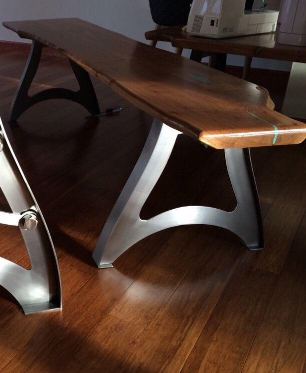 Vintage Industrial Steampunk Metal Finished Bench Legs Industrial Table Legs Industrial Furniture Industrial Design Furniture