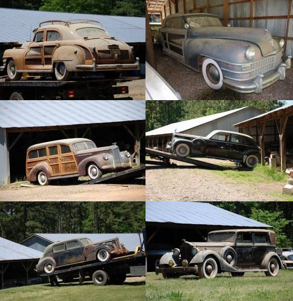 Arkansas Pre War Woody Chrysler And Godfather Packard Barn Find Sell Off