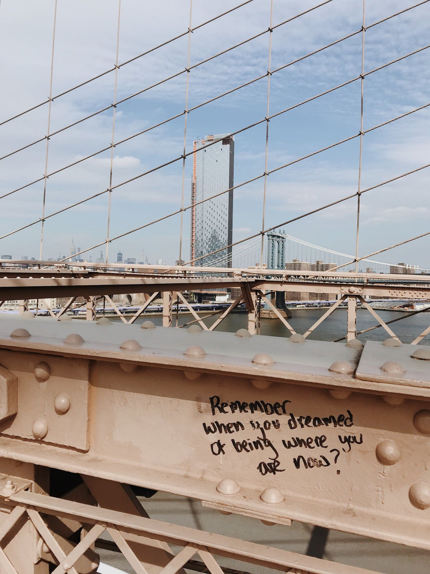 Photo of Winter in New York Brooklyn Bridge | inspirational graffiti | NYC | New York | To damage….