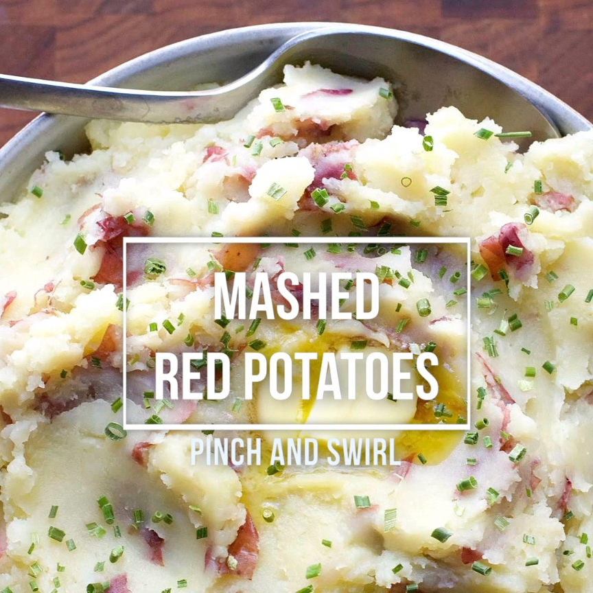 The best homemade Mashed Red Potatoes recipe is creamy with butter, olive oil and garlic. Easy enough for a busy weeknight, but delicious enough for holiday meals like Christmas and Thanksgiving. They're also easy to make ahead of time!