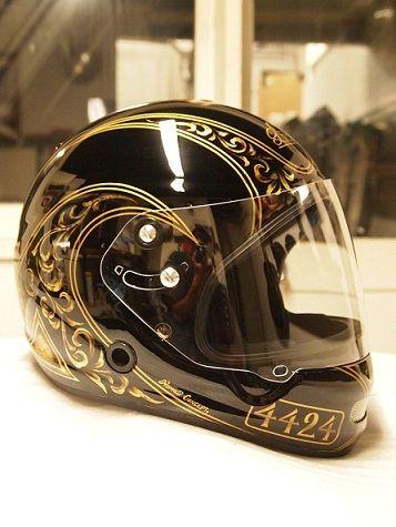 Nomad Concept カスタムペイントノマドコンセプト カスタムヘルメット バイクのカスタムヘルメット カスタムペイント