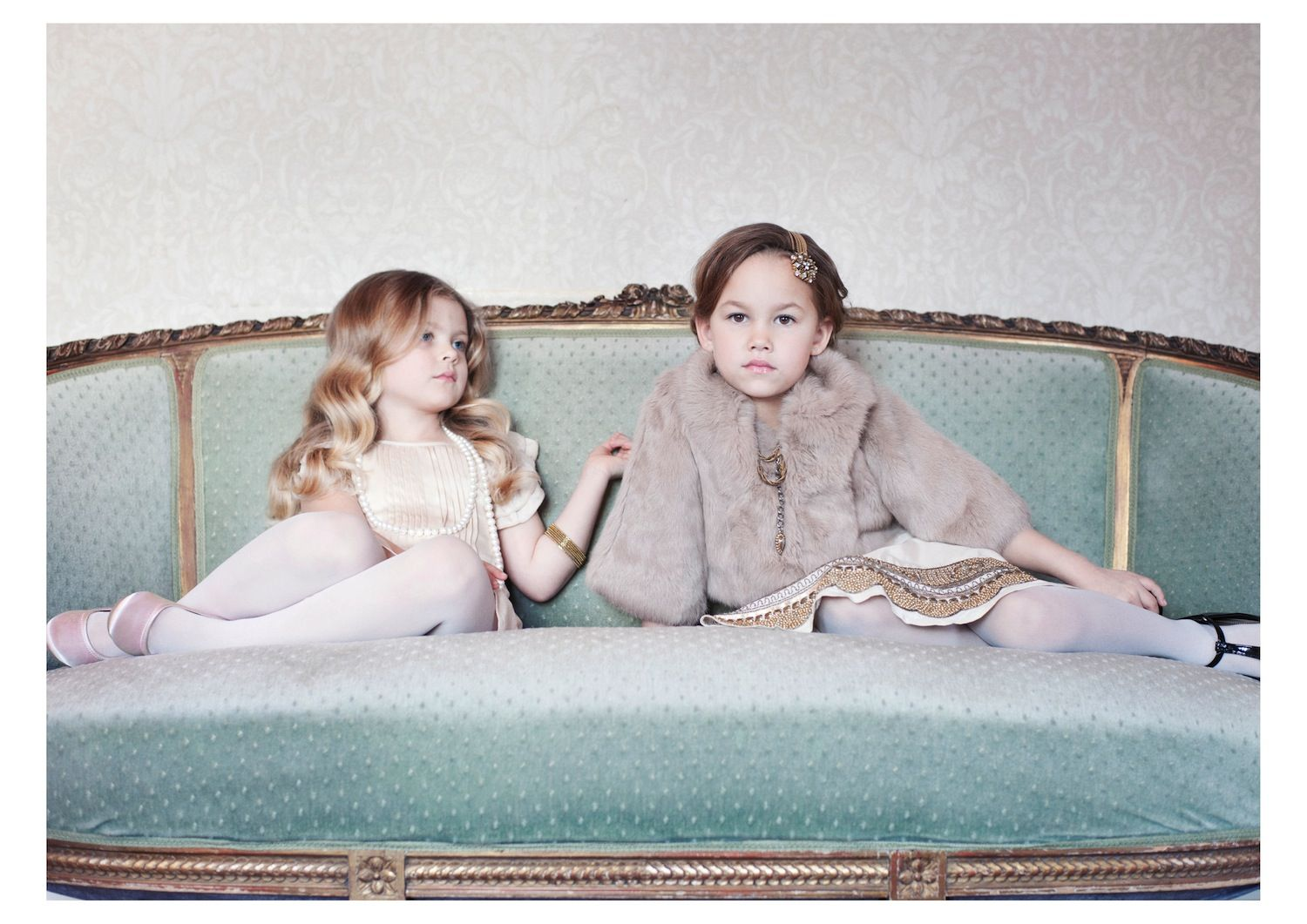 Pale Cloud, haute couture for children. Glamour and luxury clothes for little kids