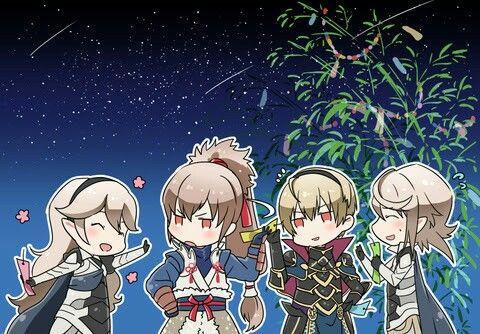 Fire Emblem: If/Fates - Kamui (F), Takumi, Leon, and Kamui (M)