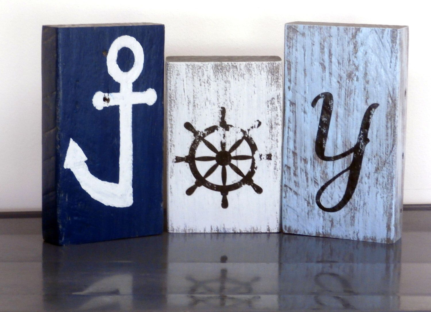 Beach Christmas Decor JOY Sign-Coastal Decor Shelf Sitters-Reclaimed Wood Sign-JOY Christmas Sign-Coastal Christmas-Mantel Decorations by RusticForestStudio on Etsy https://www.etsy.com/listing/481964053/beach-christmas-decor-joy-sign-coastal