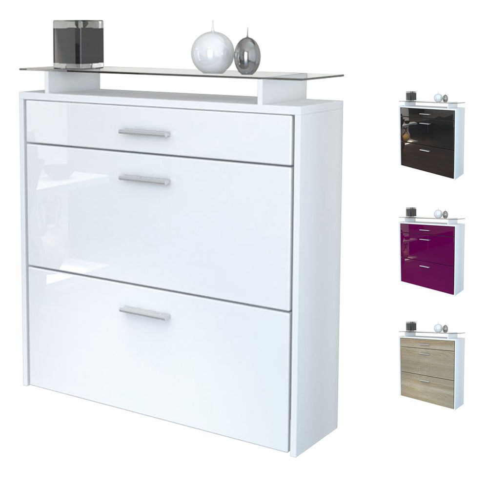 Details About Shoe Storage Rack Hanging Cabinet Malea In White