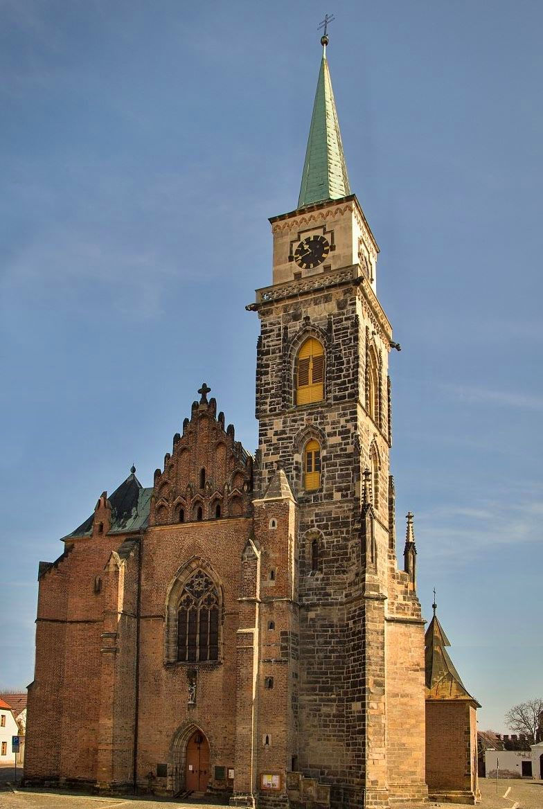 The church of St.Giles in Nymburk (Central Bohemia), Czechia