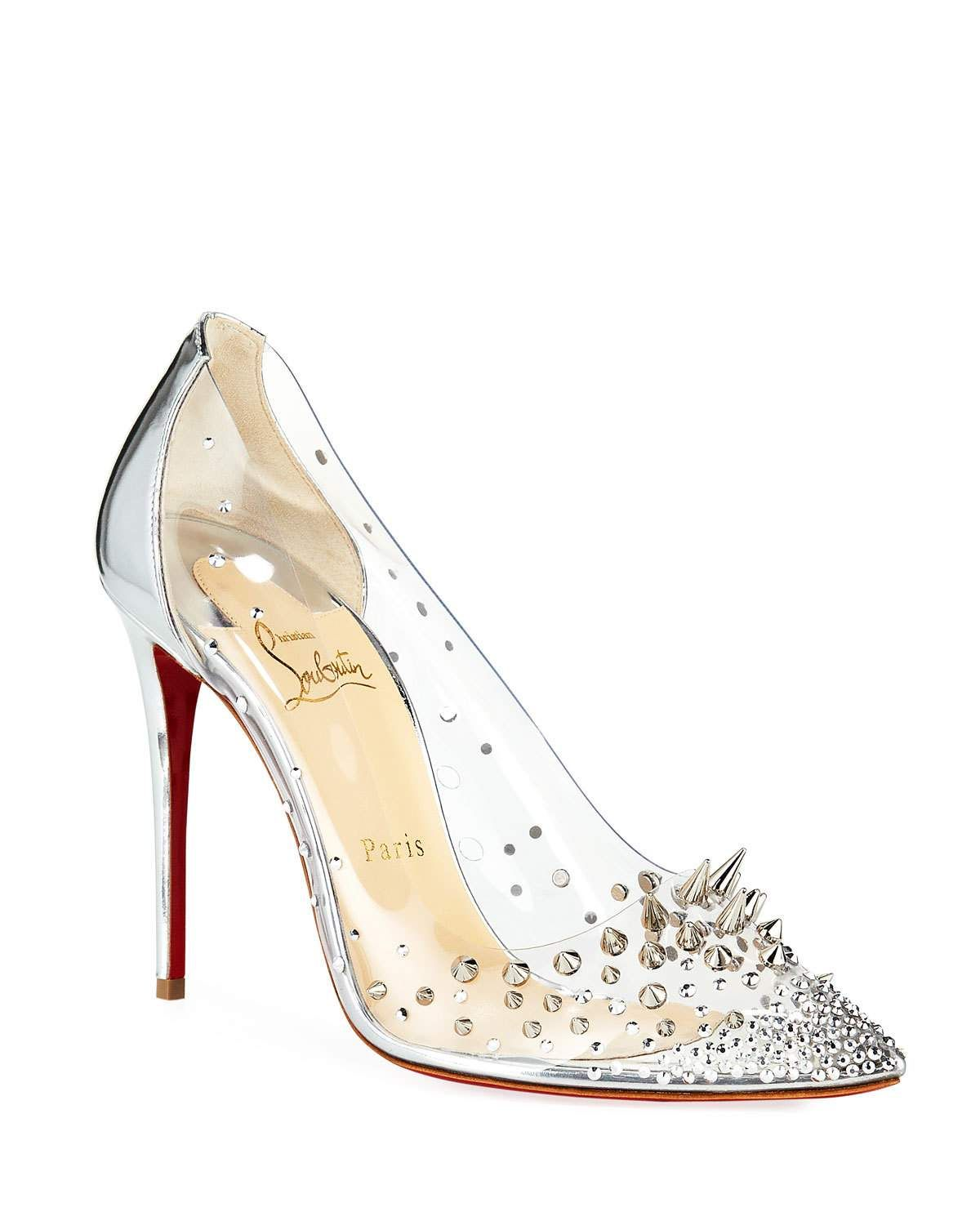 Christian Louboutin Grotika Spiked Red