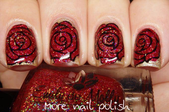 The Digit-al Dozen does 'Nail Heroes': UberChic Mat and 40 Great nail art ideas Red Roses   More Nail Polish   Bloglovin'