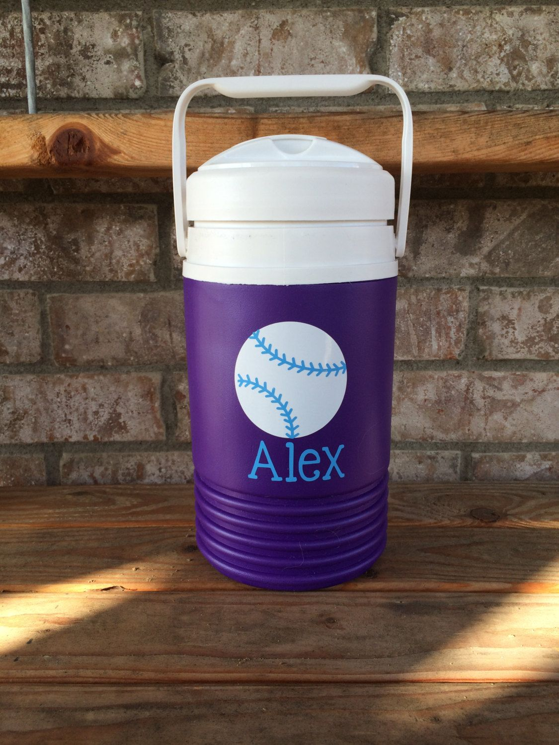 Personalized Half Gallon Water Cooler Monogrammed Water Jug Sports Water Cooler By Happytoz On Etsy Water Coolers Water Jug Cooler Monogram
