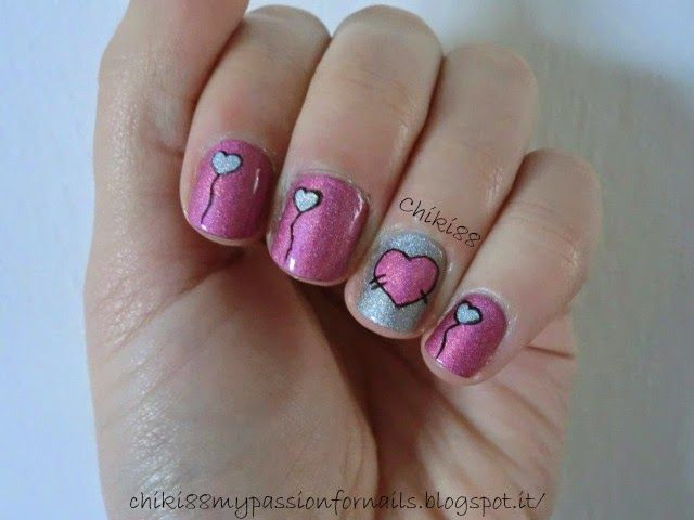 CHIKI88...  my passion for nails!: The nails of the week: Heart for Saint Valentine's...