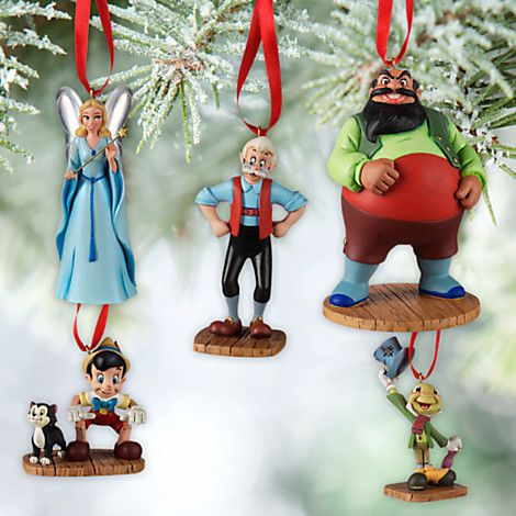 Disney 2021 Christmas Ornament New Pinocchio Collection From Disney Store Inside The Magic In 2021 Sketchbook Ornaments Disney Christmas Ornaments Disney Ornaments