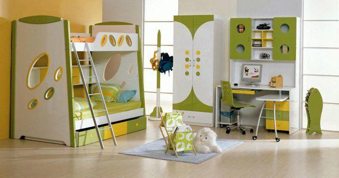 kinderzimmer für jungs ideen zum gestalten gelb und grün farben - babyzimmer fr jungs