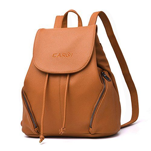8752024a1a57 New CARQI Leather School Backpack Waterproof Casual Daypack