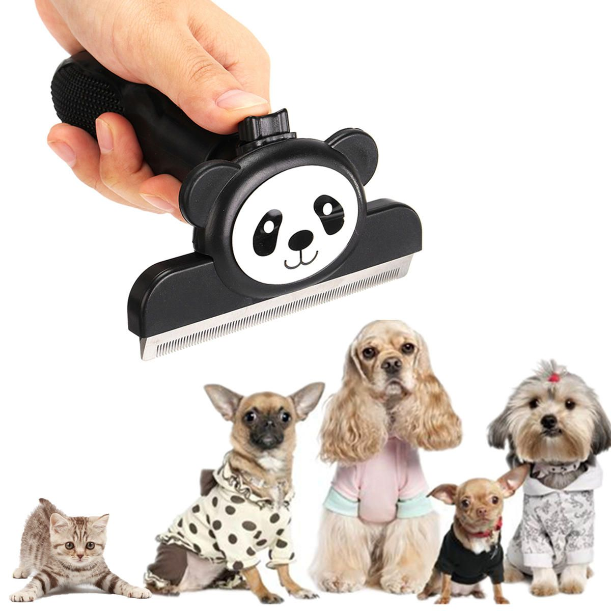 Surprising Pet Deshedding Tool And Grooming Brush For Dogs And Cats Download Free Architecture Designs Scobabritishbridgeorg