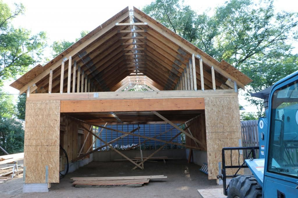 New 24 x34 detached garage with attic trusses page 2 for Bonus room truss design